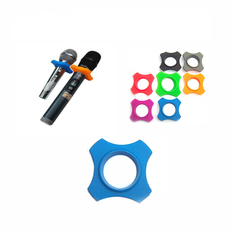 1/2/5Pcs Microphone Mic Protection Ring Replacement Accessories Soft Silicone Anti Slip For Handheld Karaoke DJ Microphone