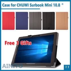 High quality Case For CHUWI Surbook Mini 10.8 Inch Tablet PC Fashion PU case cover for CHUWI Surbook Mini + free 3 Gifts