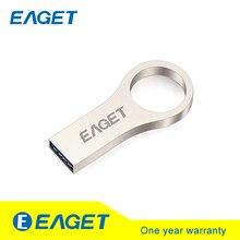 EAGET U66 USB 3.0 Metal Flash Drive Pen Drive Memory Stick Pendrive 16G 32G 64 USB Flash Stick Key Ring Waterproof High Speed