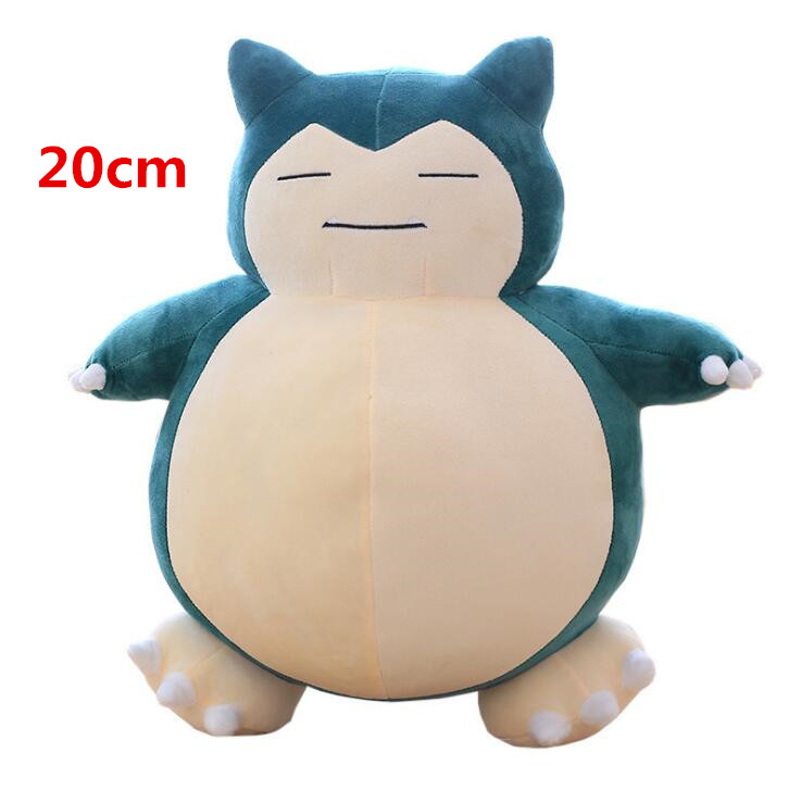 20cm Anime Snorlax Plush Peluche Toy Cute Snorlax Soft Stuffed Doll For Children Gifts