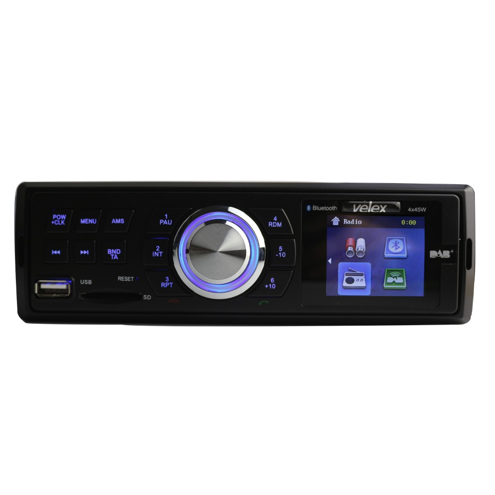 Car DAB+Audio Radio AM/FM/RDS/Bluetooth/MP3/4X45W 2.5' TFT Display Auto Digital Receiver Build-in Mic Hands-free Sound System niorfnio portable 0 6w fm transmitter mp3 broadcast radio transmitter for car meeting tour guide y4409b