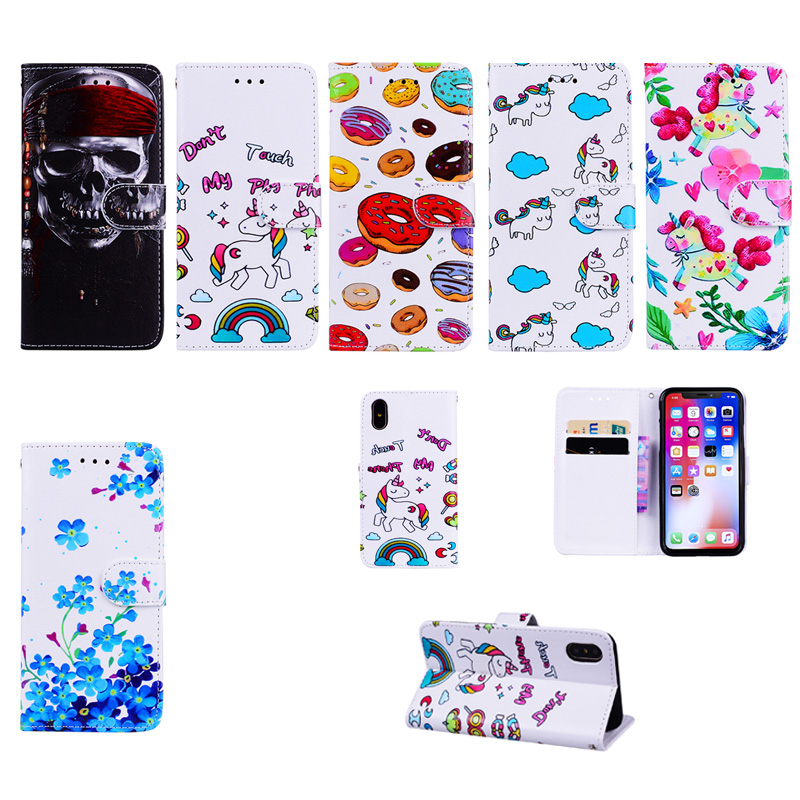 Case Cover Card Holder Flip Pattern Full Body Case Relief texture Hard PU Leathe for iPhone X 7 7 Plus 6s Plus 6 Plus 6 6S 5 5S
