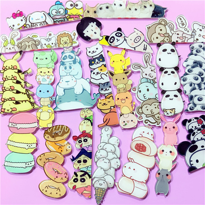 e88b413e61f3f Aliexpress.com : Buy Kawaii Icon Harajuku Stacked Animal Pikachu Acrylic  Brooch Clothes Badge Decorative Rozet Collar Scarf Lapel Pin Free Shipping  ...