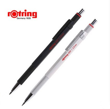 Rotring metal mechanical pencil 600 0.7mm/0.5mm silver/black pen holder automatic pencil drawing pen rotring mechanical pencil 800 0 7mm 0 5mm metal silver black pen holder automatic pencil drawing pen