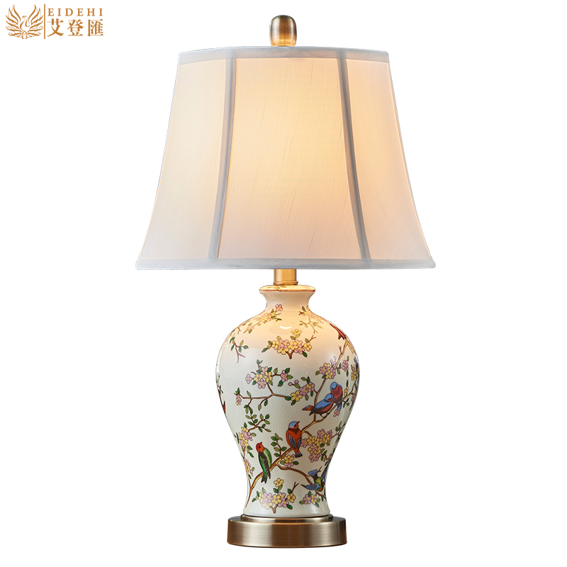 living room lamp tables classical painted ceramic fabric led e27 15766
