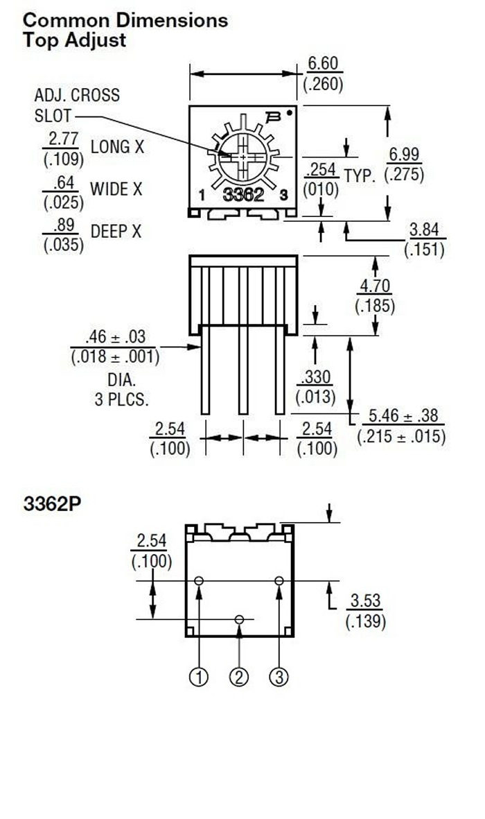 Mcigicm 10pcs 3362p 103 Trimpot Trimmer Potentiometer 100 200 500 1k Variable Resistor Circuit Diagram 2k 5k 10k 20k 50k 100k 200k 500k 1m Ohm