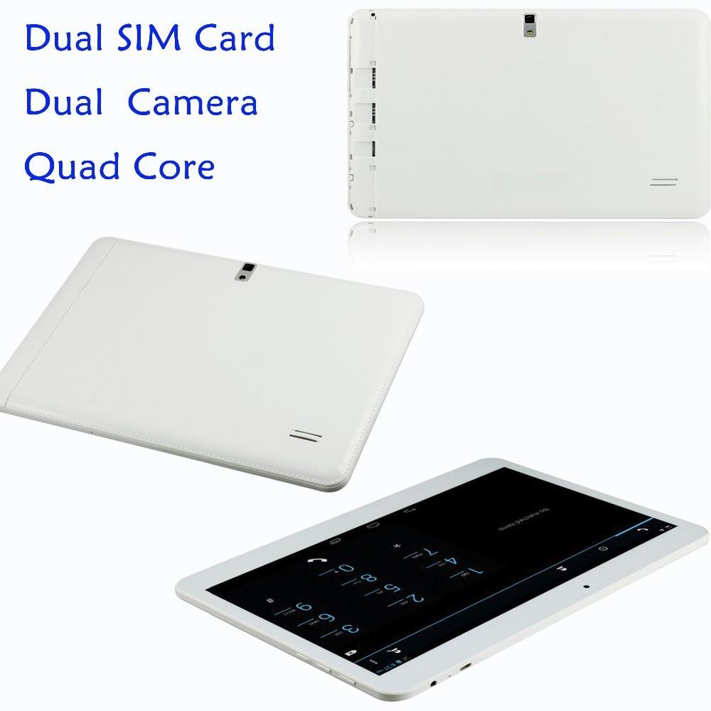 3G טלפון אנדרואיד Quad Core Tablet pc10 אינץ ' אנדרואיד 4.4 2GB זיכרון RAM 16GB ROM WiFi USB FM Bluetooth 2G+16G טבליות מחשב טלפון