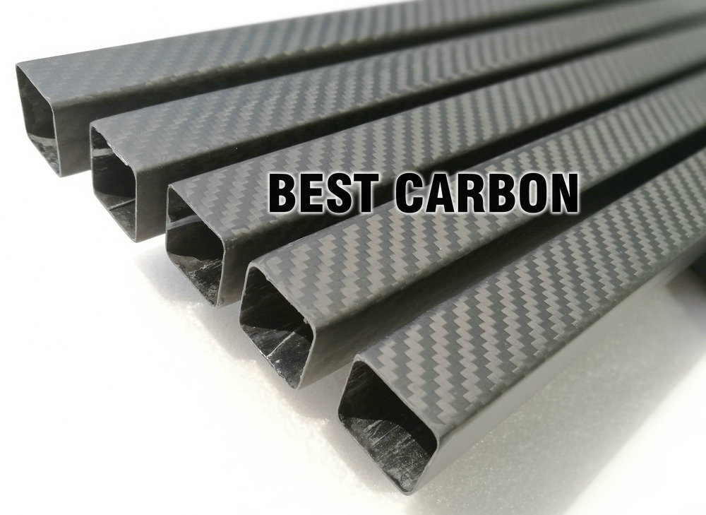 shorter 3K twill matte square carbon fiber tube 25mm x 23mm