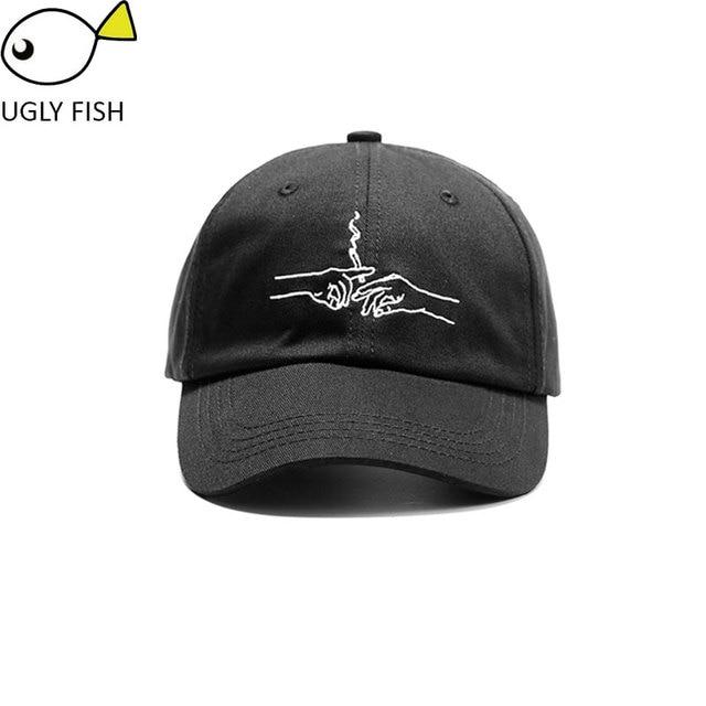 Topi wanita pria topi baseball pink hitam katun unisex adjustable baseball  cap merokok dengan tangan 3af65e400c