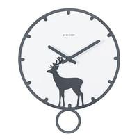 Nordic Modern Deer Wall Clock Black Round Creative Wall Clock Minimalist Living Room Decorative Duvar Saati Watch Home 50w247