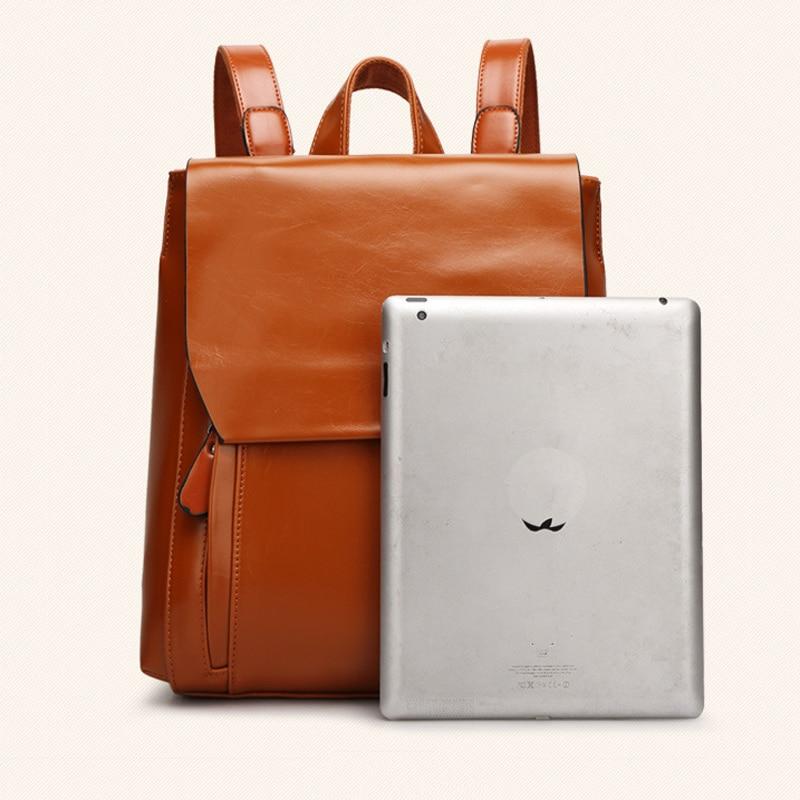 Kissyenia Leather Backpack Women Classic Oil Wax Solid Backpack Teenager Girls Roomy Rucksack Laptop School Bags Ks1033 #6