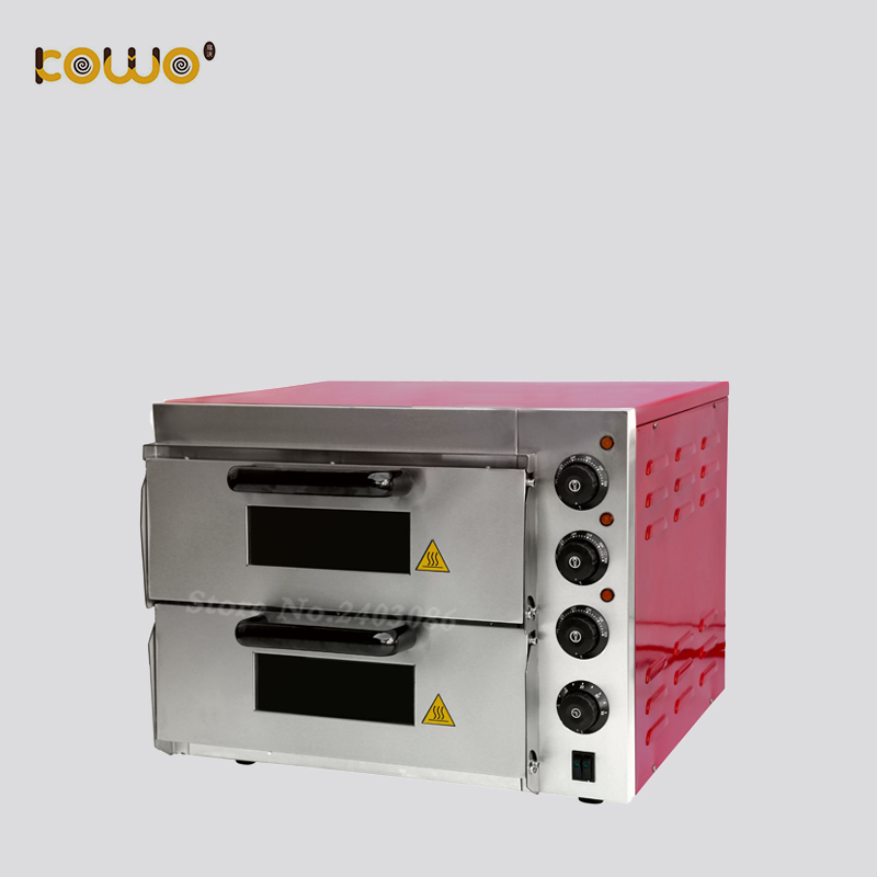 commercial electric pizza bread baking oven 2 deck 40L capacity kitchen food bakery equipment machine цена и фото