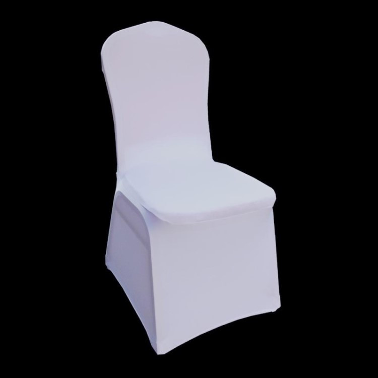 Универсальный белый полиэстер спандекс свадебные стул Чехлы для мангала для свадьбы Банкетный отель украшение поставки DHL доставки