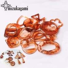 Acrylic Charms Various Geometric Shape Charms For DIY Fashion Earrings Jewelry Making Accessories