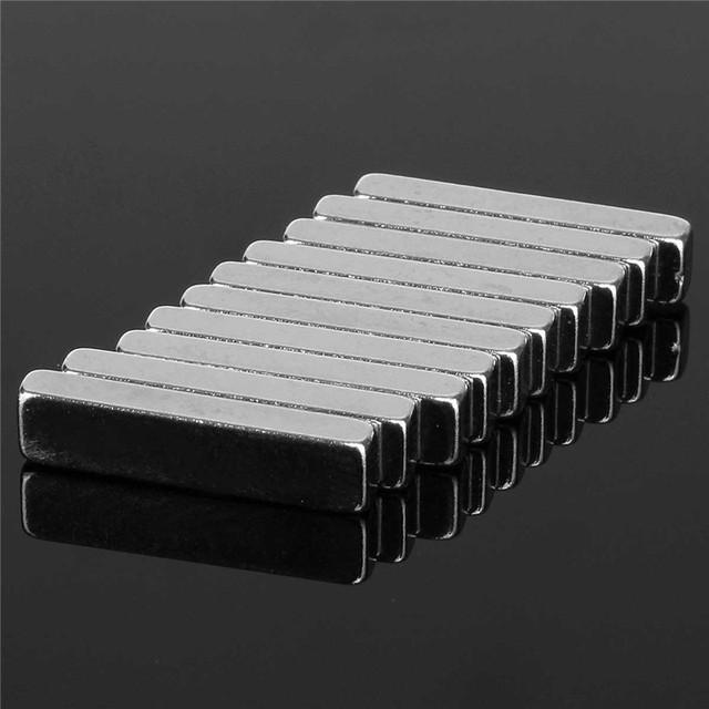 10pcs 20mm x 5mm x 3mm N50 Strong Block Magnets Rare Earth Neodymium Magnets Strong Cuboid Permenent Magnet 20 x 5 x 3mm Hot