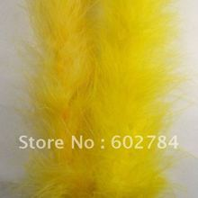 Боа из пера индейки вечерние украшения мода перо шарф 2 ярдов 184 см 1 шт./лот желтый цвет