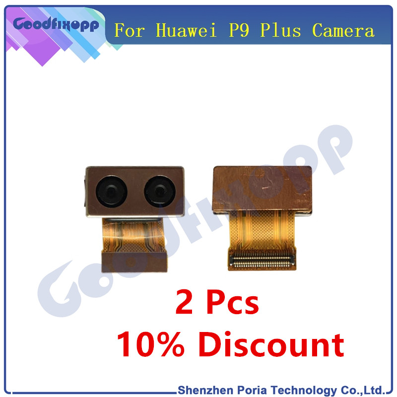 1 Pcs Camera For Huawei P9 Plus Back Rear Big Camera Module Flex Cable Front Small Camera P9 Plus Replacement Parts