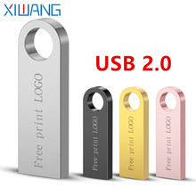Usb Flash Drive 64gb Metal Pen 16gb Waterproof Pendrive 32gb Memory Stick 8gb 128gb Memoria 2.0 Free Custom Logo