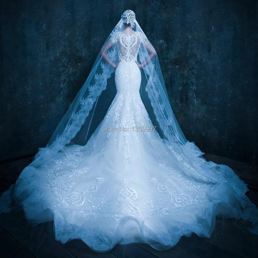 Custom Made On One Layer Michael Cinco Couture 2017 Lace Edge Wedding Veils In Bridal From Weddings Events Aliexpress Alibaba Group