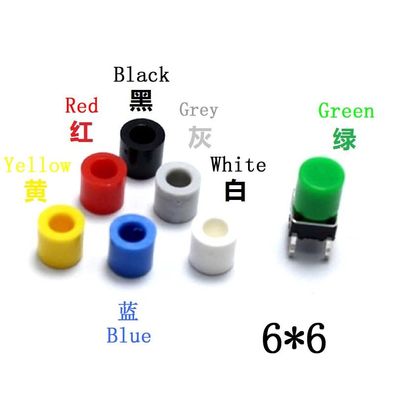 100Pcs//lot  Plastic Cap Hat for 6*6mm Tactile Push Button Switch Lid Cover  Kt