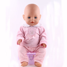 New style Fashion popular handmade 43cm new baby born zapf clothes,Best gift for children free shipping (without shoes)N125