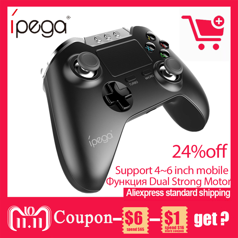 IPEGA PG-9069 PG 9069 Wireless Bluetooth Joystick Gamepad Gaming Controller Mouse Touch Pad for Android/iOS Tablet PC Smartphone цены онлайн