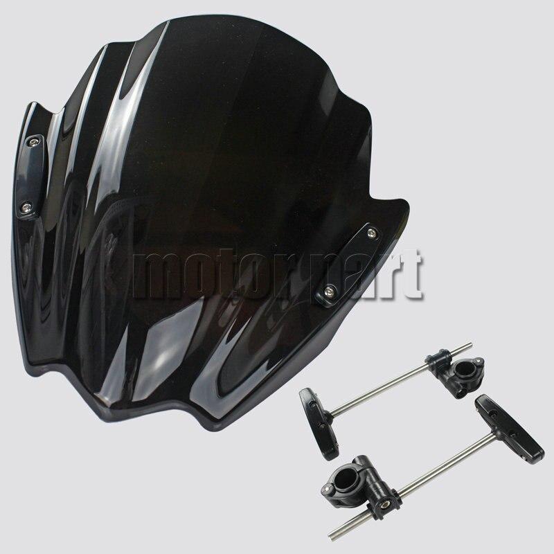 Мотоцикл лобовое стекло для KTM 125 200 390 герцог 690 Р 390Duke 200Duke 1290 супер Дукер ABS пластмассы ветрового стекла Дефлекторы черные