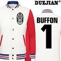 DUZJIAN World Cup Gianluigi Buffon thick velvet baseball uniform men's Jackets college jacket boys big size men clothing