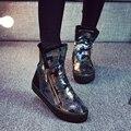 Envío libre 2016 de Camuflaje de invierno de nieve botas de mujer de fondo grueso zapatos calientes del algodón