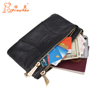 Top Quality Cow Genuine Leather Men Wallets Luxury Dollar Price Short Style Male Purse Multifuction