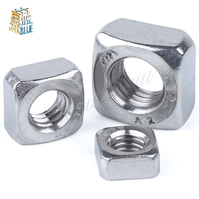 50Pcs DIN557 GB39 M3 M4 M5 M6 M8 304 Stainless Steel Square Nuts HW052