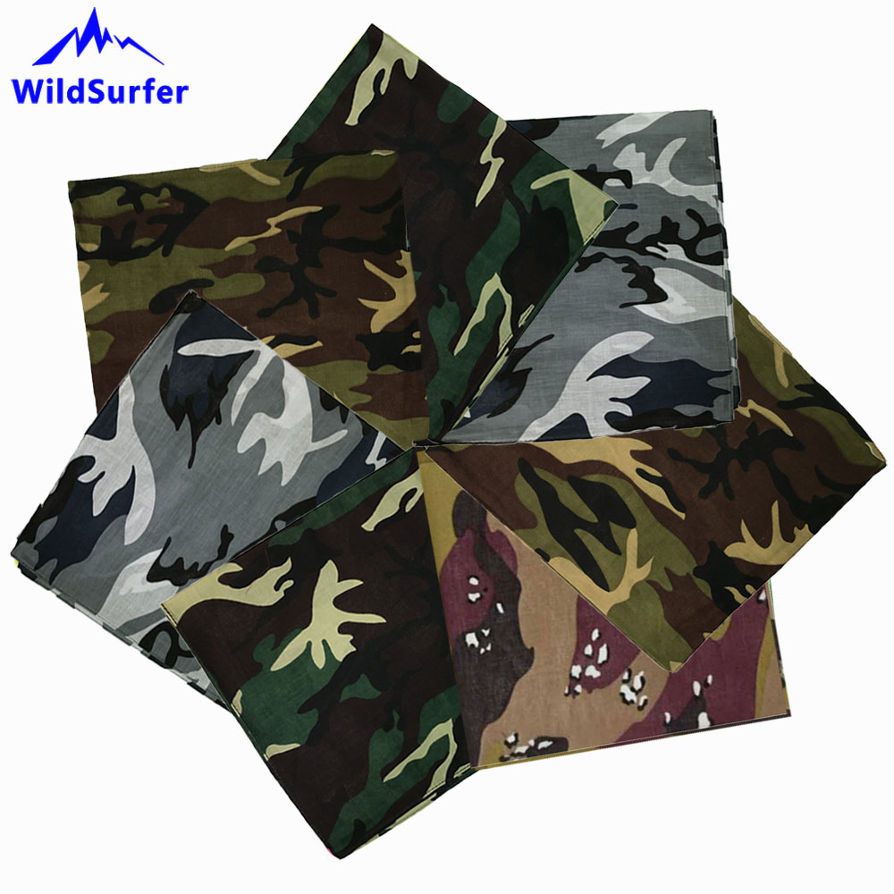 Grey Camouflage Bandana Head Neck Scarf 100/% Cotton