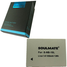 SOULMATE NB-10L lithium batteries pack NB10L Digital Digital camera Battery NB 10L for Canon G1X G15 G16 SX40HS SX50HS SX60HS SX40 SX50