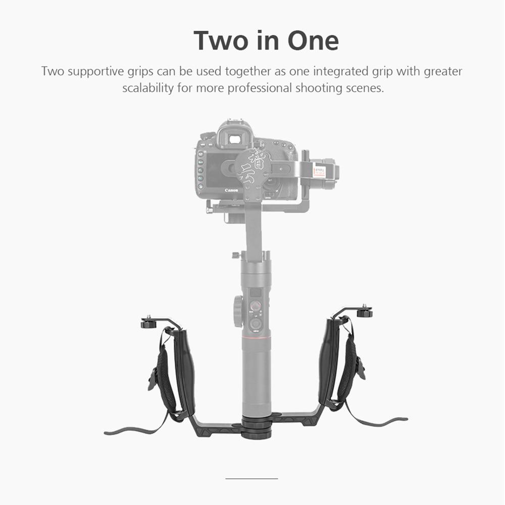 ZHIYUN Official Crane 2 Gimbal Accessories L Bracket TransMount Mini Dual Grip for LED Light/Microphone/Monitor 6