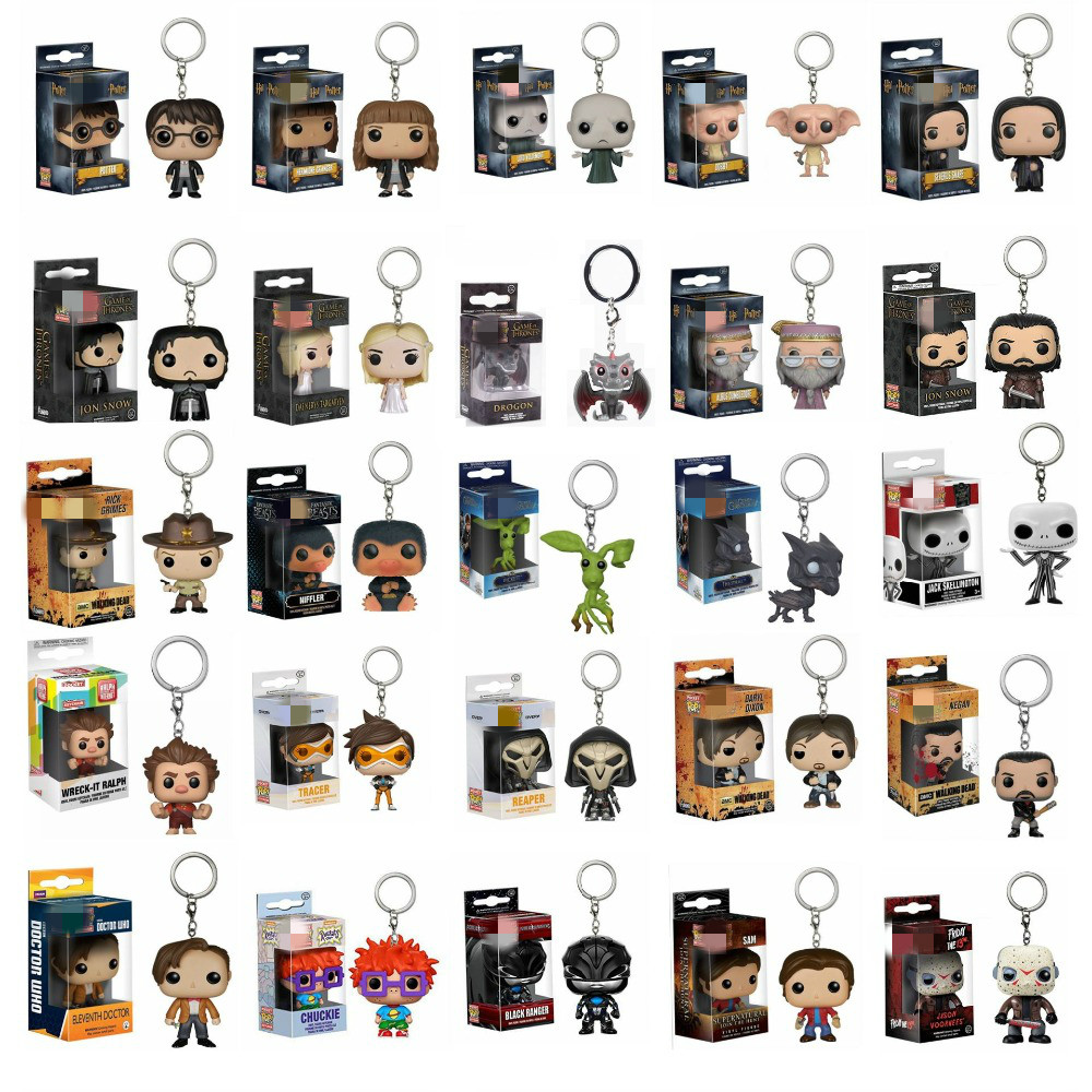 New Product Game Of Thrones Harri Potter Fantastic Beasts Action Toy Figures Pocket Keychains Model Doll Collection Toys image