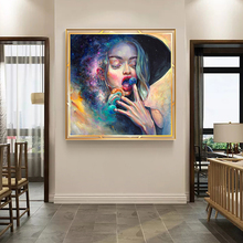 Portrait Art Posters and Prints Wall Canvas Painting Abstract Watercolor Girl Pictures For Living Room Home Decor No Frame