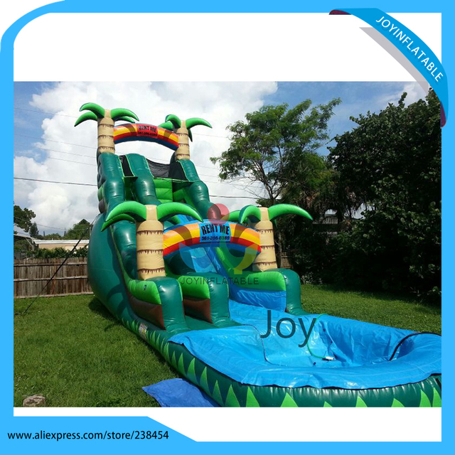 Outdoor Playground Inflatable Combined Kids Slide With Swimming Pool Water For Adults
