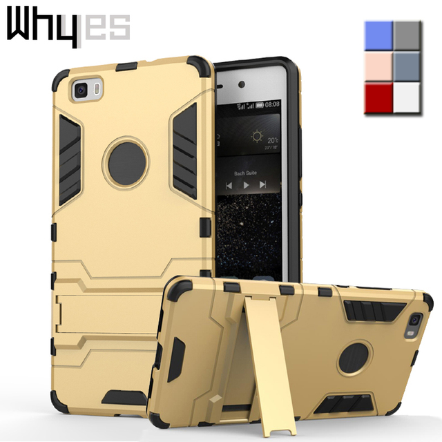 """Whyes For Huawei P8Lite Case Huawei ALE-L21 Hard PC Silicone Cover Cases For Huawei P8 Lite (5.0"""") 2016 Hybrid Phone Protector"""