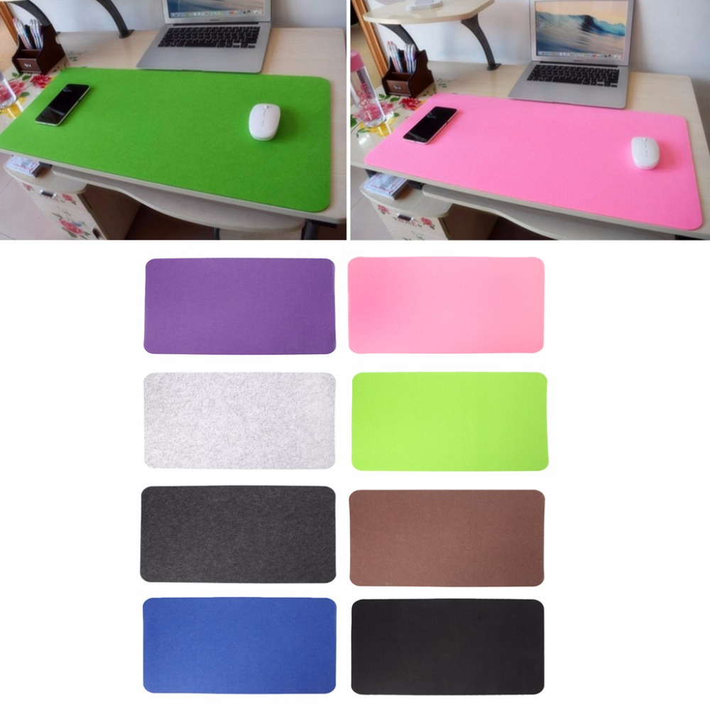 67x33cm Solid Color Large Felt Cloth Mouse Pad Non-slip Mouse Pad Mouse Mat for Computer Office Desk pad 8 Colors C26 ...