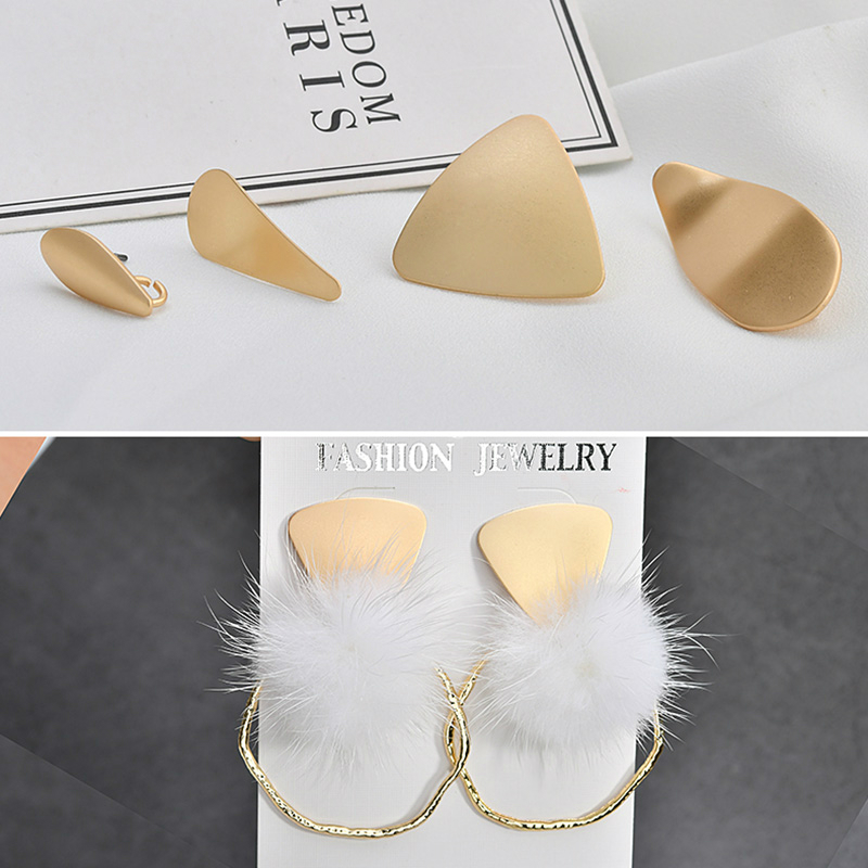 Dummy Gold Irregular Water Drop Earrings Accessories Diy Europe And The United States Cold Wind Earrings Jewelry Material