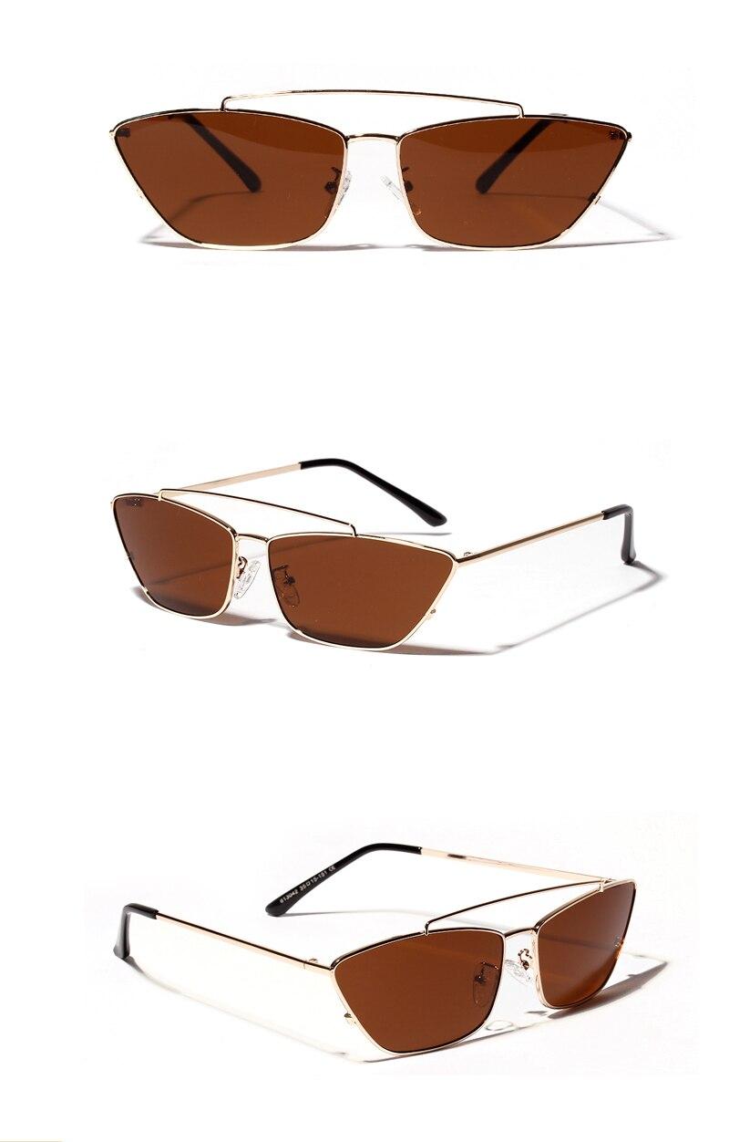 ladies cats eye sunglasses green lens detail (5)