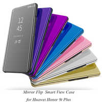 Smart Flip Stand Mirror Case For Huawei Honor 9i Plus 9I+ Case Clear View PU Leather Cover For Huawei Honor 9i Plus Case Cover
