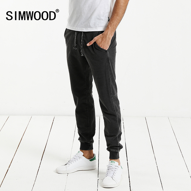 SIMWOOD 2017 Autumn New Harem Pants Men Casual Sweatpants  Elastic Waist Slim Fit Plus Size Brand Clothing WC017001