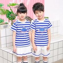 School Boys Girls Uniform Tshirt Shorts Skirt Clothing Set Kids Child Princess Adult Baby Dance Costume Schoolgirl 3-18Y