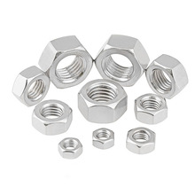 Stainless steel six angle nut Nut Screw cap M2 M3 M4 M5 M6 M8 M10 Bolt