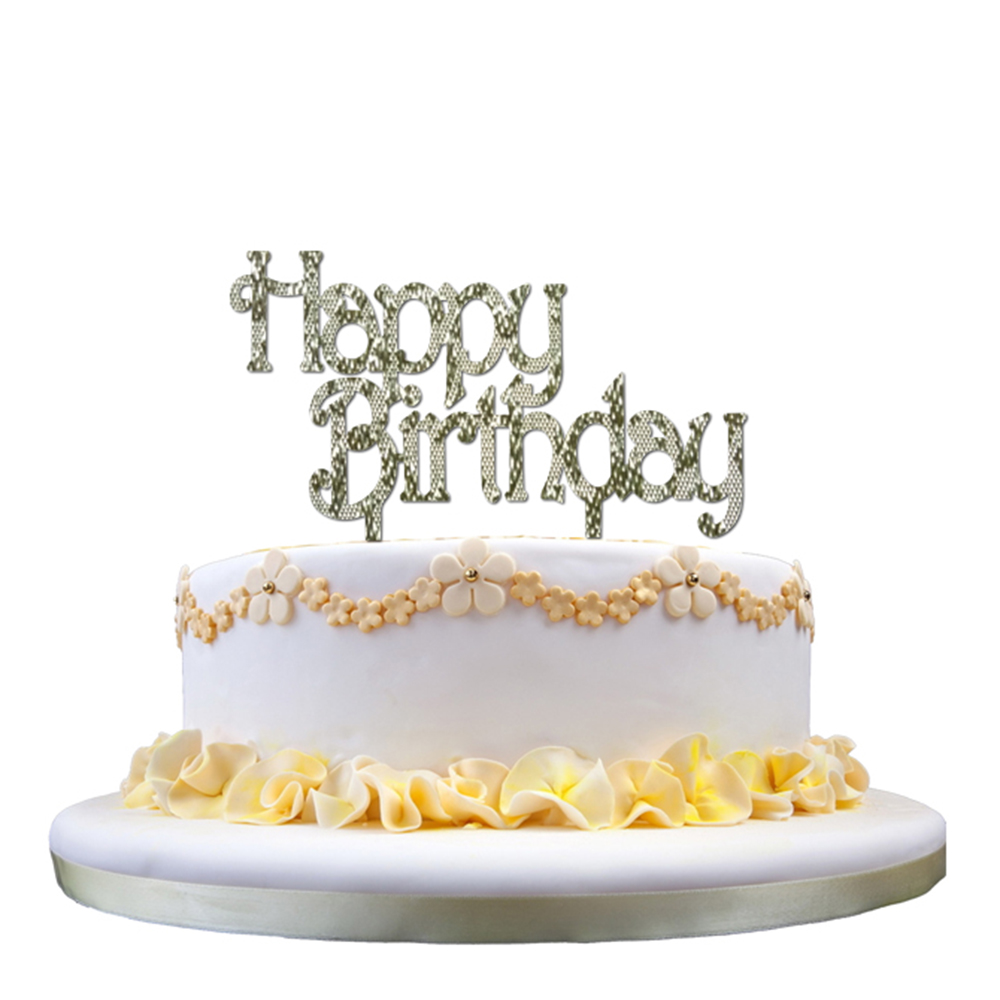 Happy Birthday Acrylic Cake Topper Decorating Supplies Kids Cakes