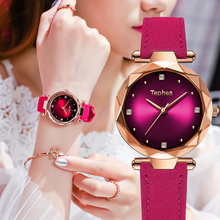 Hot Sale Luxury Women Watches Fashion Leather Flower Surface Ladies Starry Sky Wristwatches Waterproof Clock Gift Drop Shipping