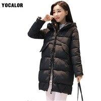 2017 Autumn Cheap Winter Woman Korean Parka Female Coat Women Long Hood Outerwear Snow Wear Free Shipping Fashion Warm Jacket