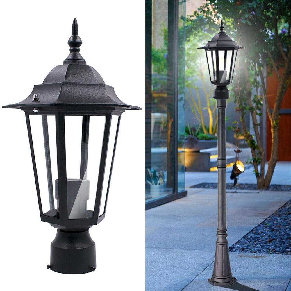 1pc E27 Outdoor Column Light Courtyard Path Hexagon High Pole Street Lawn Lamp Driveway Post Yard Garden Light Waterproof Lamp