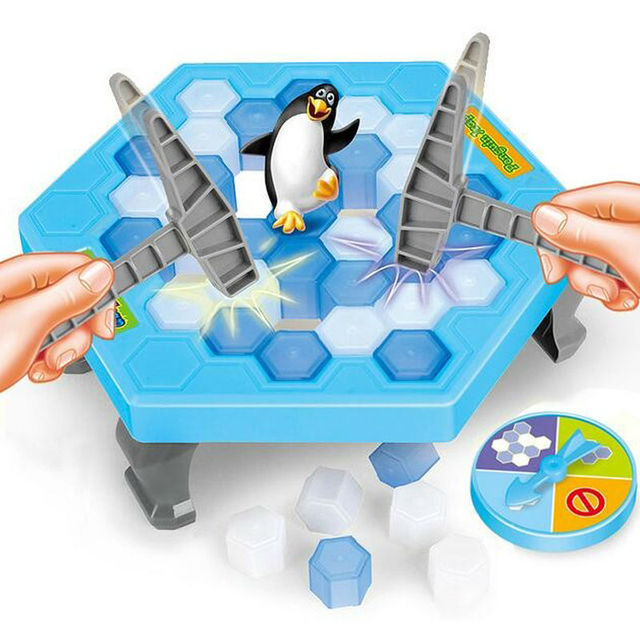 2018 Penguin Trap Activate Funny Game Interactive Ice Breaking Table Penguin Trap Entertainment Toy for Kids Family Fun Game